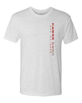 Texas Tech Red Raiders Premium Tri-Blend Tee Shirt - Vertical Texas Tech Fade