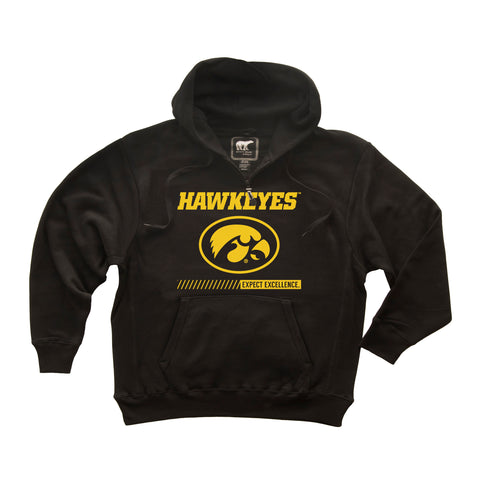 Iowa Hawkeyes Premium Fleece Hoodie - Oval Tigerhawk - Expect Excellence