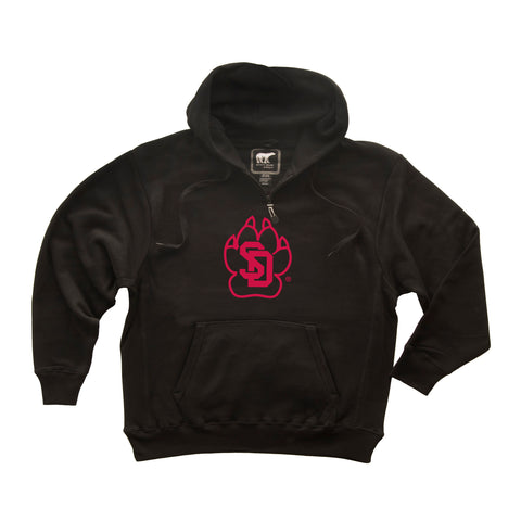 South Dakota Coyotes Premium Fleece Hoodie - SD Coyote Paw Print