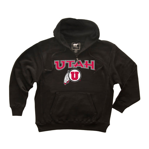 Utah Utes Premium Fleece Hoodie - Circle & Feather Logo