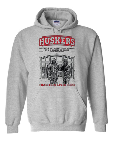 "Nebraska Cornhuskers Football Tradition Lives Here ""Berringer & Osborne"" Hooded Sweatshirt"