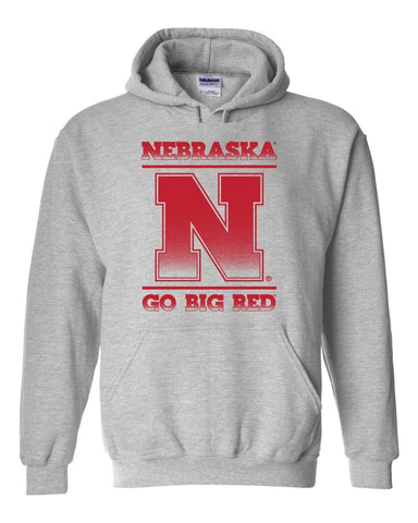 "Nebraska Cornhuskers ""Nebraska N GO BIG RED"" Hooded Sweatshirt"