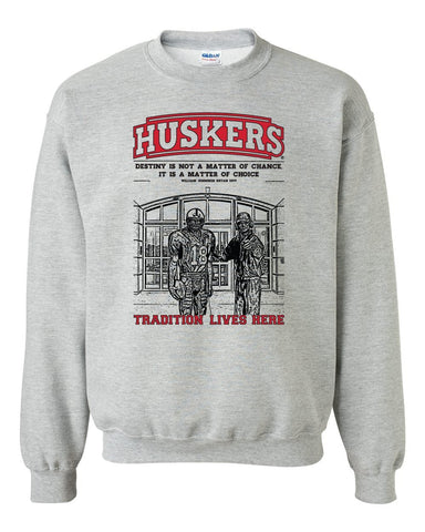 "Nebraska Cornhuskers Football Tradition Lives Here ""Berringer & Osborne"" Crewneck Sweatshirt"