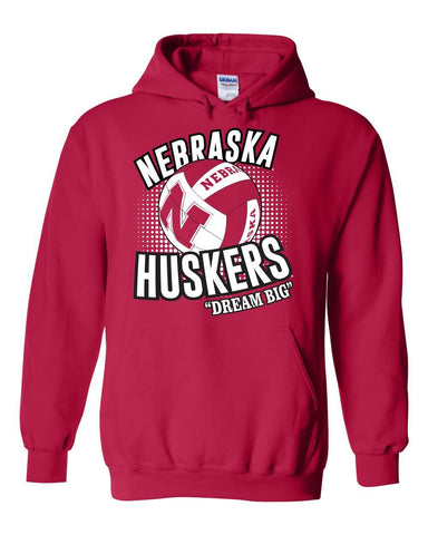 "Nebraska Huskers Volleyball ""Dream Big"" Hooded Sweatshirt"