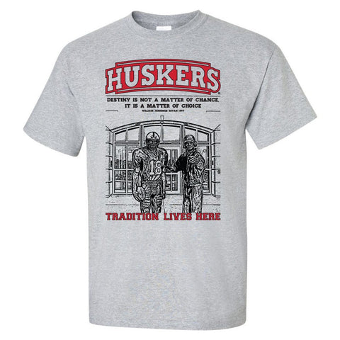 "Nebraska Cornhuskers Football Tradition Lives Here ""Berringer & Osborne"" Tee Shirt"