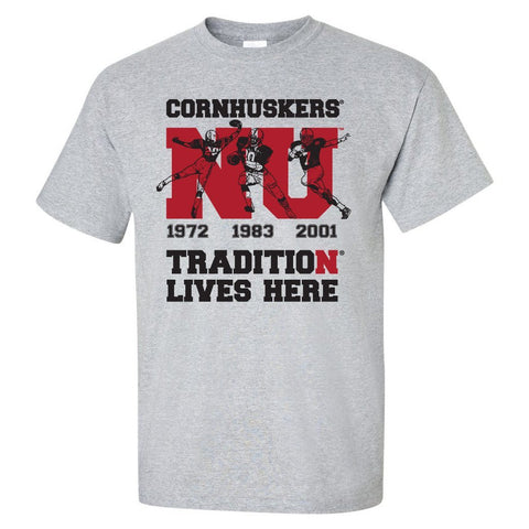 "Nebraska Cornhuskers Football Tradition Lives Here ""Heismen"" Tee Shirt"