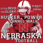 Nebraska Football Traditions Unisex Short Sleeve Tee Shirt - Red High Resolution Detail
