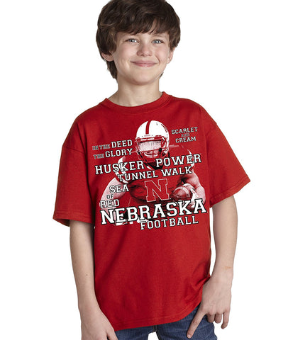 Nebraska Cornhuskers Football Traditions Youth Boys Tee Shirt