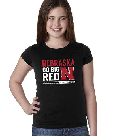 "Nebraska Cornhuskers ""Expect Excellence"" Youth Girls Tee Shirt"