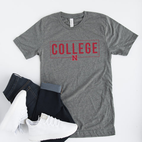 UNL COLLEGE TEE - UNIVERSITY OF NEBRASKA TSHIRT