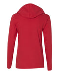 "Women's Nebraska Huskers Long Sleeve Hooded Tee Shirt - ""nebraska"" x 3"