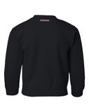 Nebraska Husker Youth Crewneck Sweatshirt - Script Blackshirts THROW THE BONES