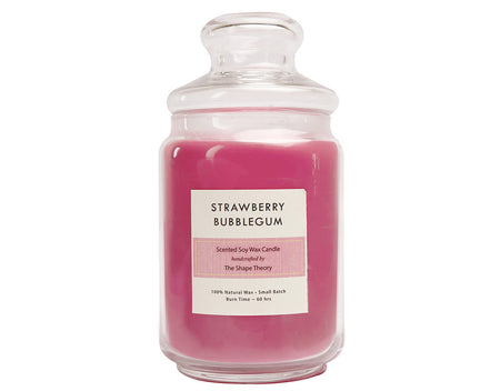 Strawberry Bubblegum Scented Candles Large Size