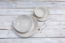 Wonki Ware 16 Piece Dinner Service - Warm Grey Patterned