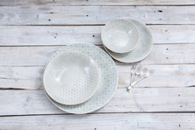 16-Piece Dinner Service - Duck Egg  Patterned