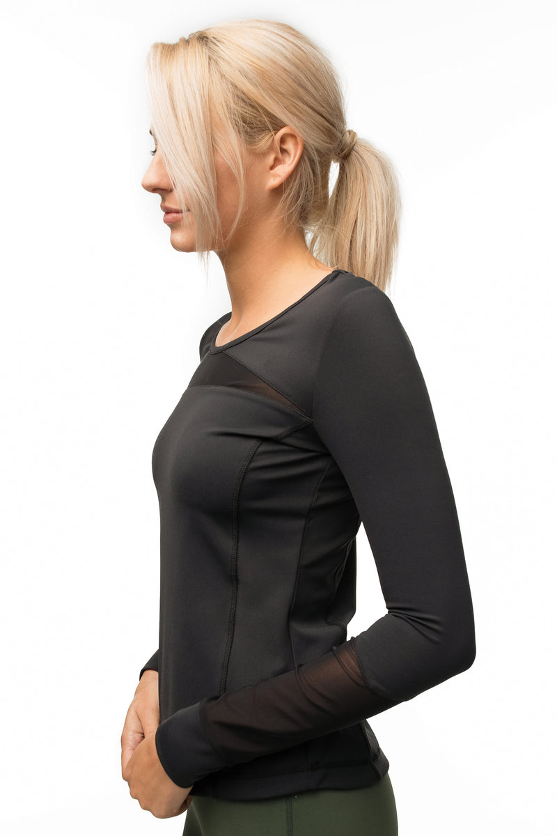 The Mesh-Mixed Long Sleeve