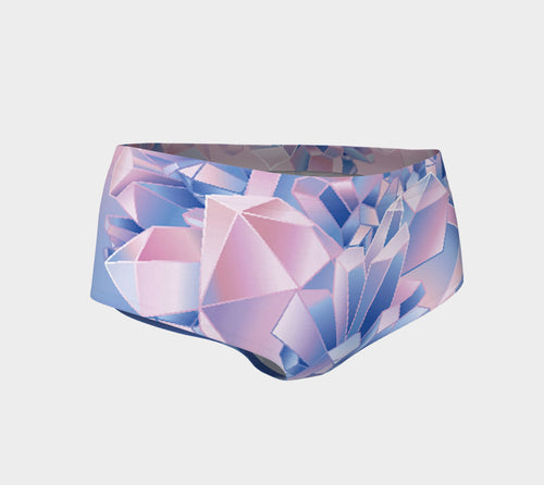 Robin Zendayah Body Alchemy Mini Shorts - Crystal Love Watercolor Two