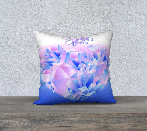 Robin Zendayah Environmental Alchemy Pillow Case -  Crystal Love Watercolor
