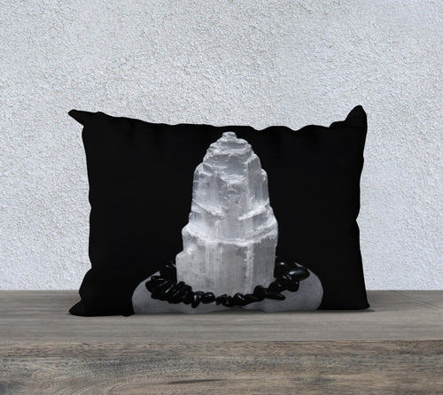 Robin Zendayah Environmental Alchemy Pillow Case -  Selenite & Black Tourmaline
