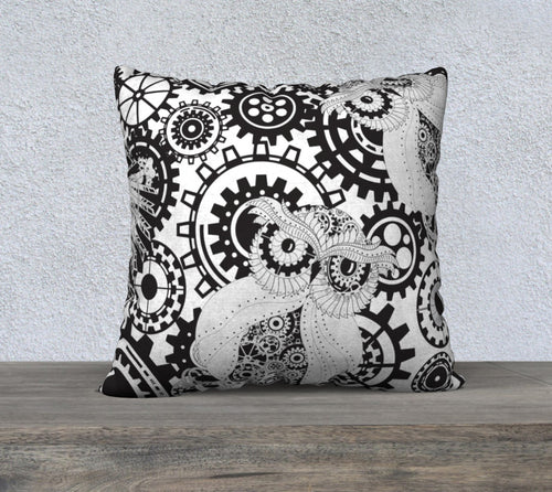 Robin Zendayah Environmental Alchemy Pillow Case -  Steampunk Owl