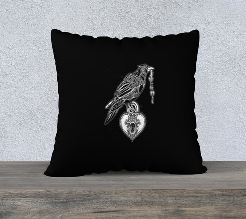 Robin Zendayah Environmental Alchemy Pillow Case -  Raven Heart