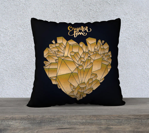 Robin Zendayah Environmental Alchemy Pillow Case -  Crystal Love Gold