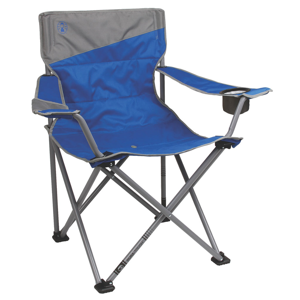 Coleman Big-N-Tall Quad Chair-Blue-Grey Fits Up To 600lbs