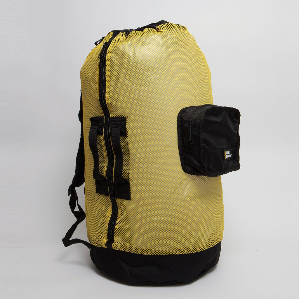 Nat Geo Clamshell Mesh Backpack Dlx 5 Pocket -Ylw-Bk