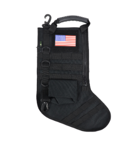 RUCK UP TACTICAL CHRISTMAS STOCKING WITH USA PATCH - BLACK