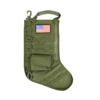 RUCK UP TACTICAL CHRISTMAS STOCKING WITH USA PATCH - OD GREEN