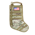 RUCK UP TACTICAL CHRISTMAS STOCKING WITH USA PATCH - MULTICAM