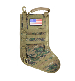 RUCK UP CHRISTMAS STOCKING WITH USA PATCH