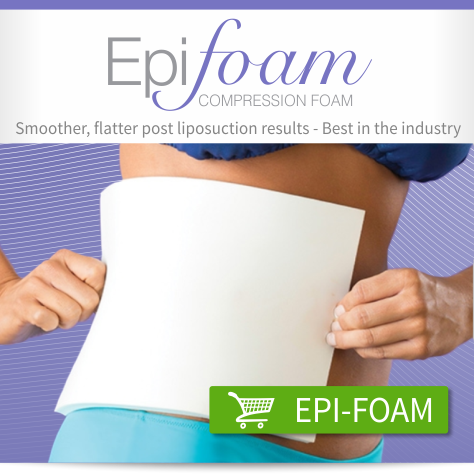 Biodermis compression foam pads - For a smoother, flatter post lipo cosmetic surgery recovery