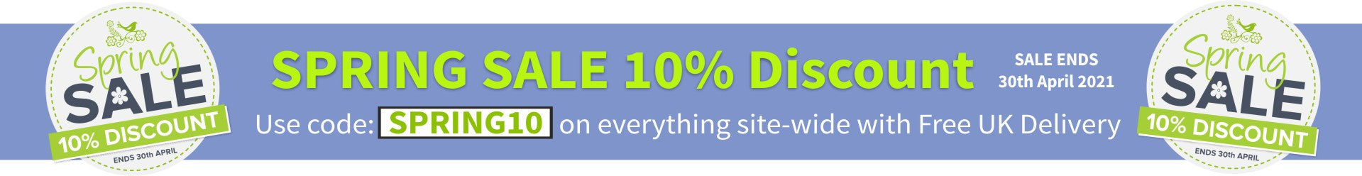 Spring Sale Now On Save 10% Today
