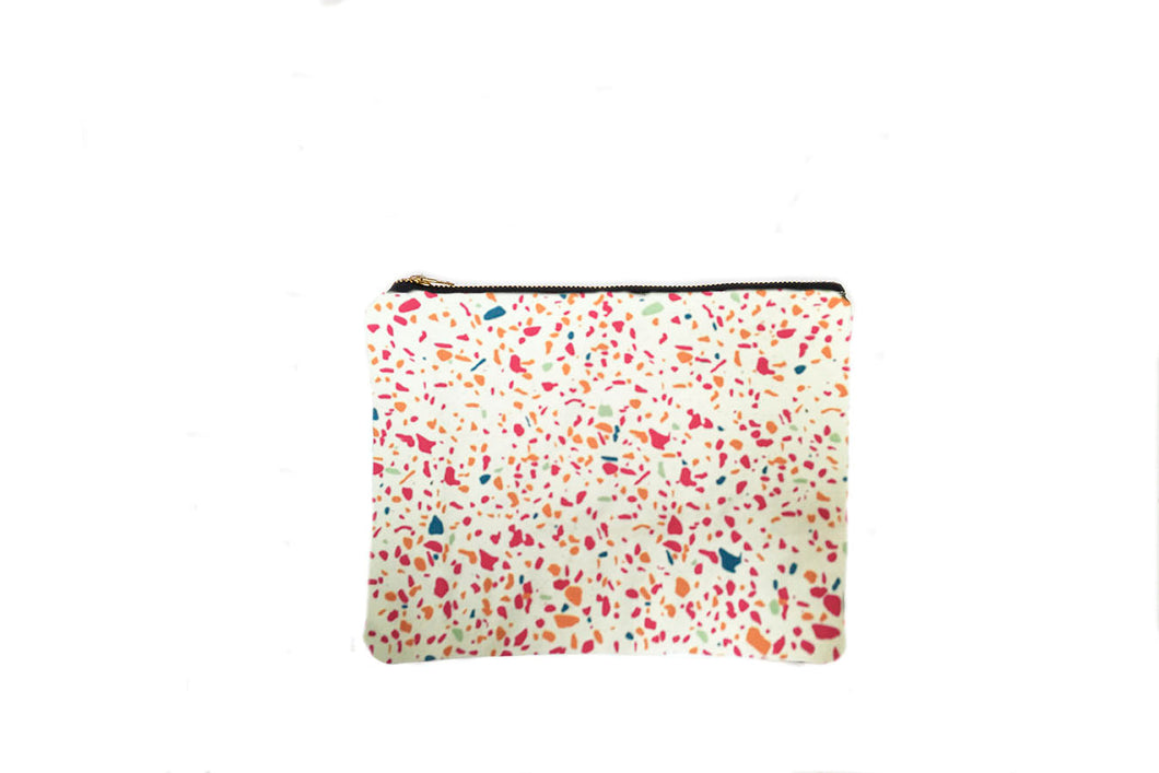 Make up Bag in Pink Terrazzo