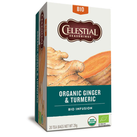 Organic Ginger & Turmeric Herbal Tea 20 bags