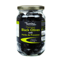 Marinated Black Olives & Herbs 220g