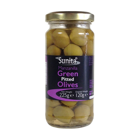 Green Pitted Olives 225g