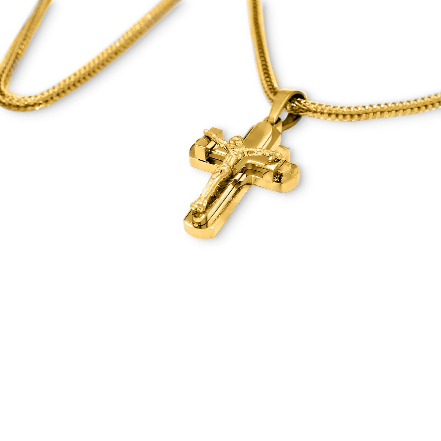 Unique Stainless Steel Designer Crucifix Pendant