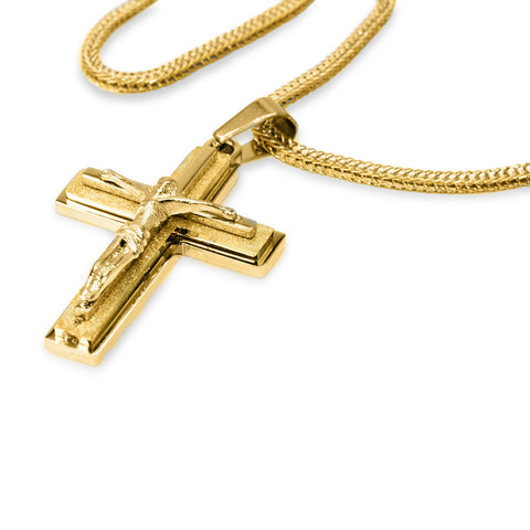 Unique Stainless Steel Designer Crucifix Pendant Necklace