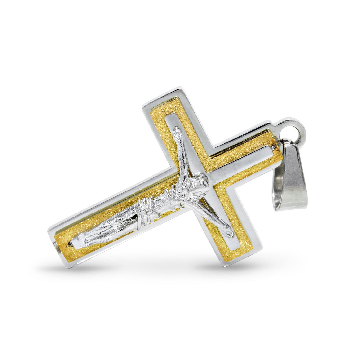 men with yellow on crucifix gold jesus design nugget s pendant pnd cross