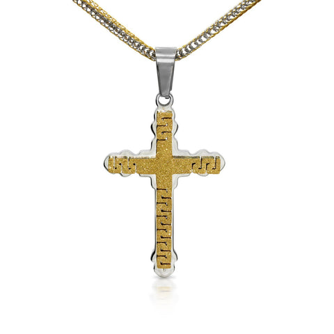 Unique Stainless Steel Designer Cross Pendant