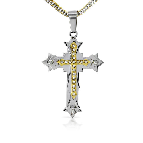 Unique Stainless Steel Designer Iron Cross Pendant