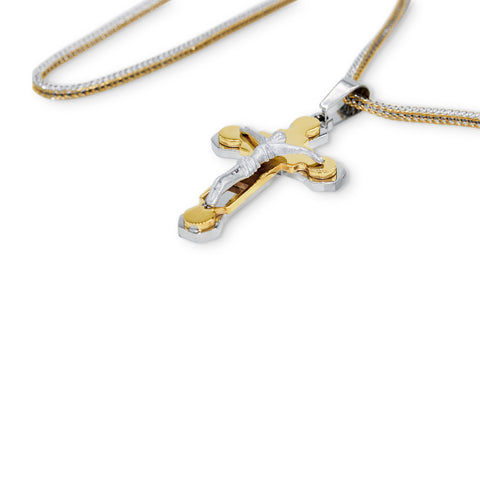 Stainless Steel Designer Layered Crucifix Pendant