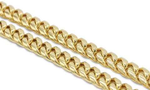 Cuban Link Chain Necklace 18k Zirconia Gold Plated Stainless Steel Fashion Jewelry