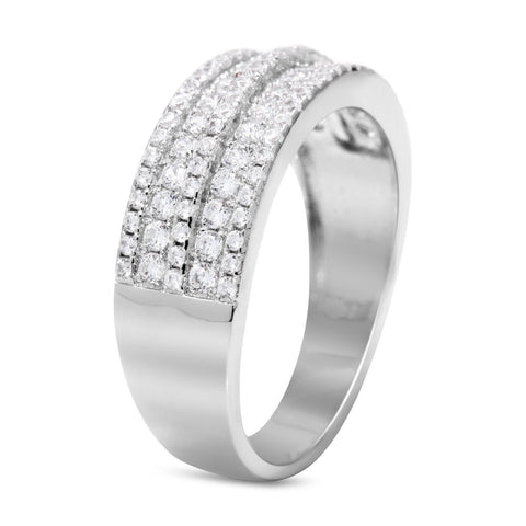 CZ 7mm Elegant Sterling Silver Plated Fashion Engagement Ring