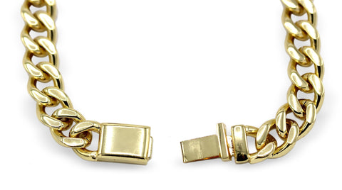 Cuban Link Chain Bracelet 18k Gold Plated Miami Cuban Stainless Steel