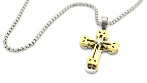 Stainless Steel Designer Cross Pendant