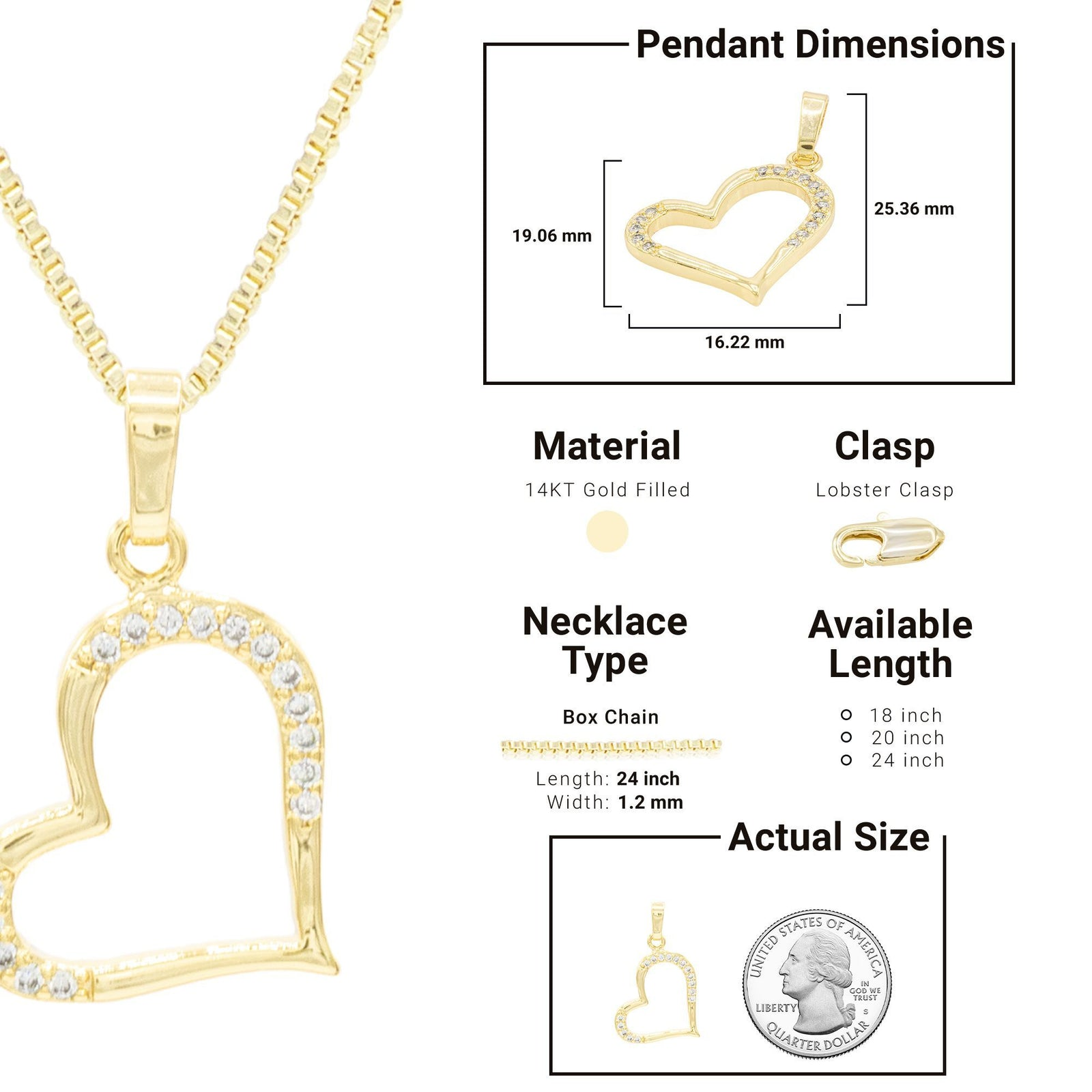 14K Gold Filled Pendant Set