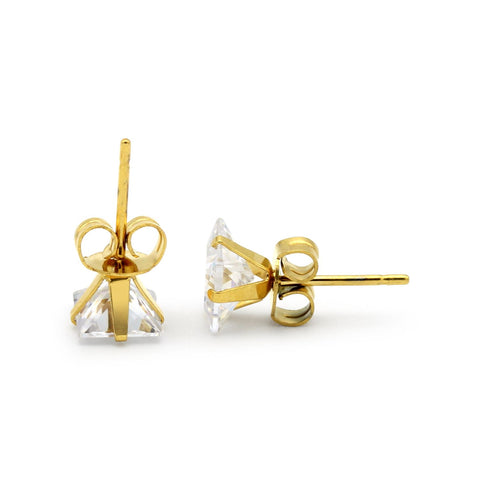 gold square studs